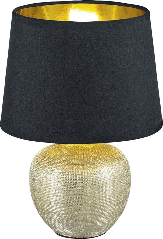 bol reality luxor tafellamp zonder lichtbron zwart goud