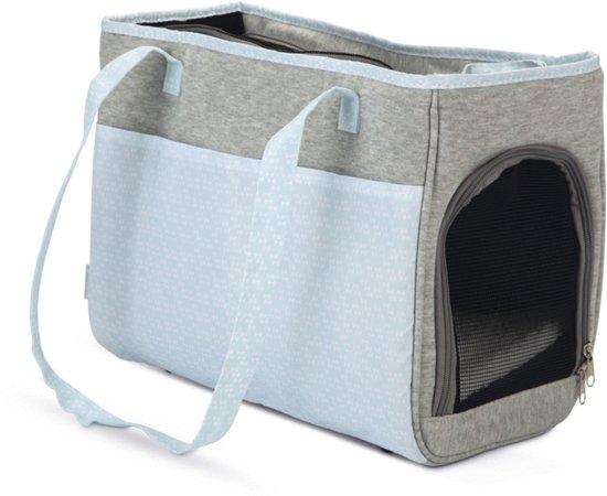 Beeztees Puppy - Schoudertas Hond - Grijs/Blauw - 40x22x28 cm