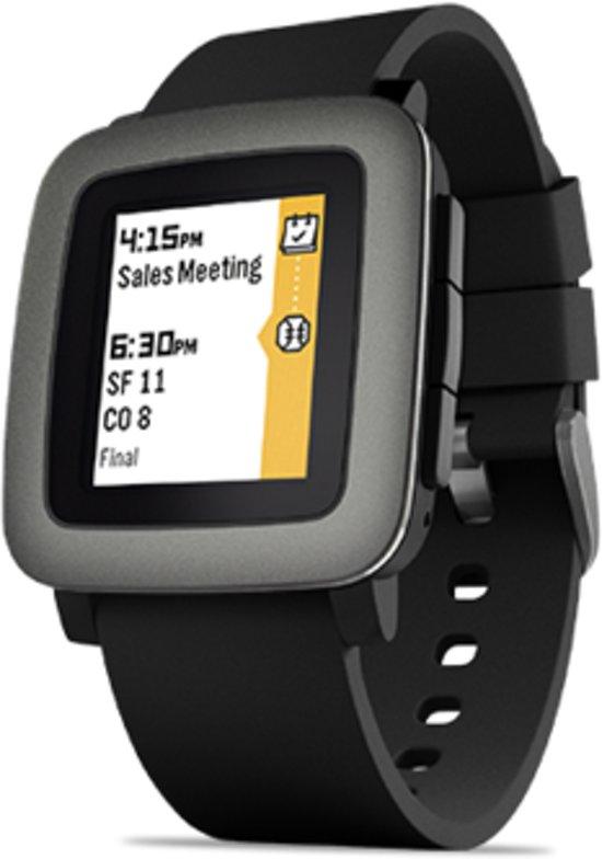Pebble Time Smart Watch zwart