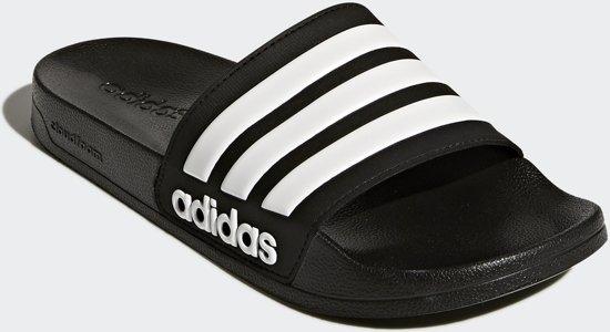 white Unisex Adidas Maat 46 Cloadfoam Black Adilette Slippers attTSwXq