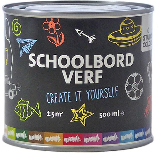 Schoolbordverf Coffee Brown - bruin -  500 ml.