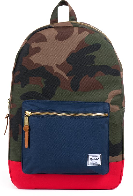 f0453fc11f4 Herschel Supply Co. Settlement Rugzak - Woodland Camo Navy Red