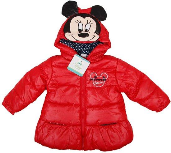 Disney baby meisjes winterjas rood maat 74
