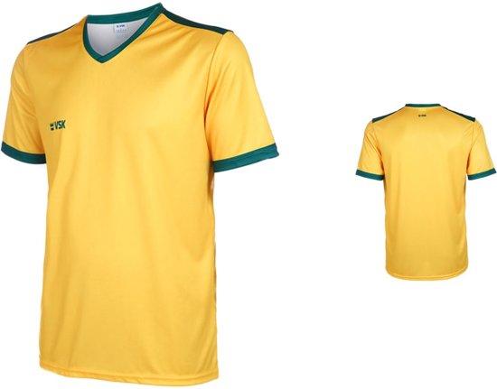 VSK Fly Voetbalshirt Blanco Geel-Groen-140