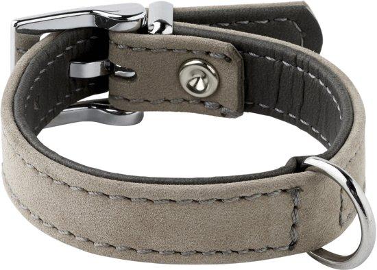 Adori Halsband Nubuck Grijs - Hondenhalsband - 14mmx30 cm