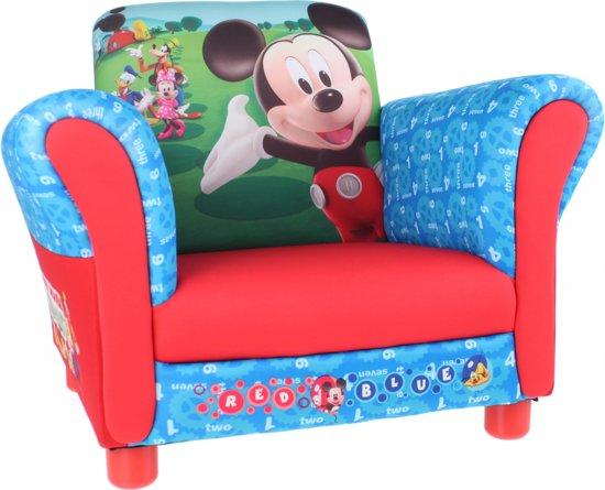 Bol mickey mouse gestoffeerde stoel rood cm