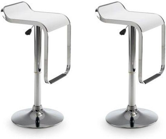 Moderne Witte Barstoelen.Kave Home Las Vegas Barkruk Wit Set Van 2