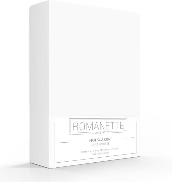 Luxe Katoen Hoeslaken Wit   180x200   Ademend En Verkoelend   Uitstekende pasvorm