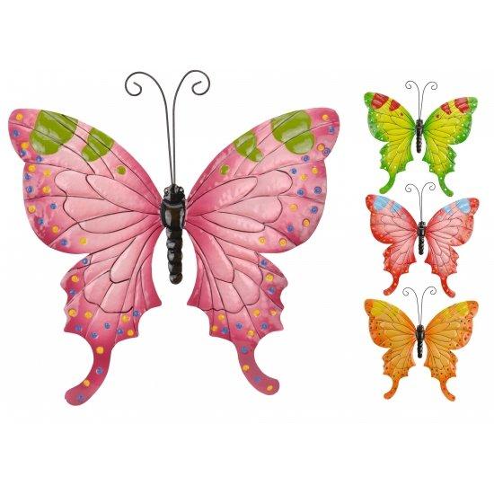 Metalen decoratie vlinder 37 cm oranje for Metalen decoratie fiets
