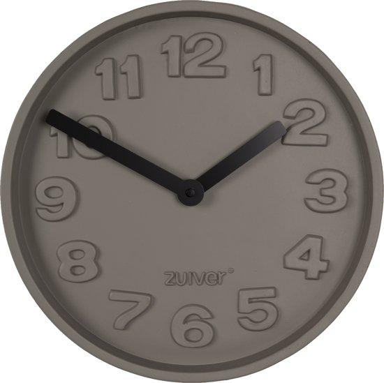 Zuiver Concrete Time - Wandklok - Zwart