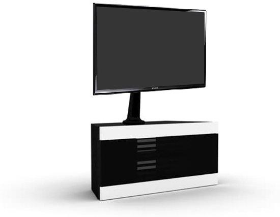 Verrijdbare Tv Kast : Bol elmob linos tv meubel zwart hout glas