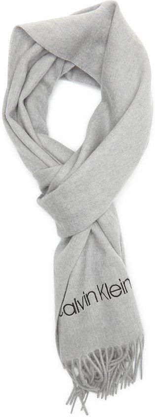 Calvin Klein Light Grey Heather Sjaal  - grijs