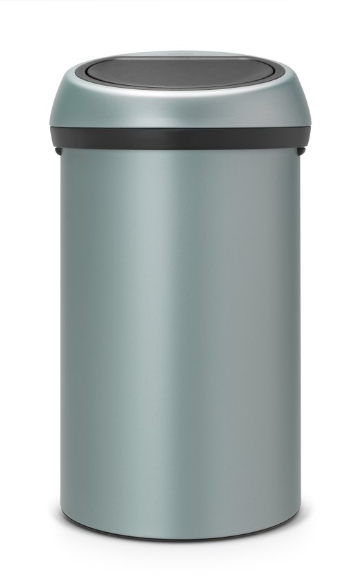 brabantia touch bin prullenbak 60 l metallic. Black Bedroom Furniture Sets. Home Design Ideas