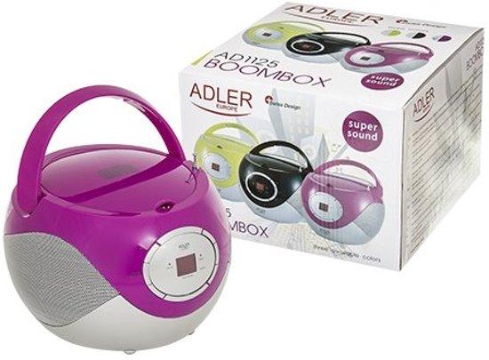 Adler AD 1125p - Radio cd-speler - paars