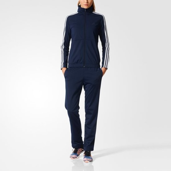 adidas Back 2 Basics 3-Stripes Track Suit - Joggingpak - Dames - L