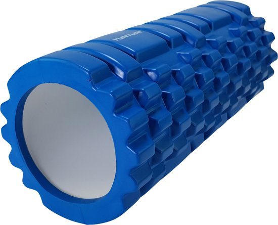 Tunturi Yoga Grid Foam Roller Massage - Fitness Roller - Triggerpoint massage - 33cm - Blauw