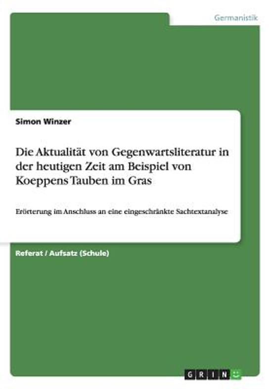 bol.com   Die Aktualitat Von Gegenwartsliteratur in Der Heutigen ...