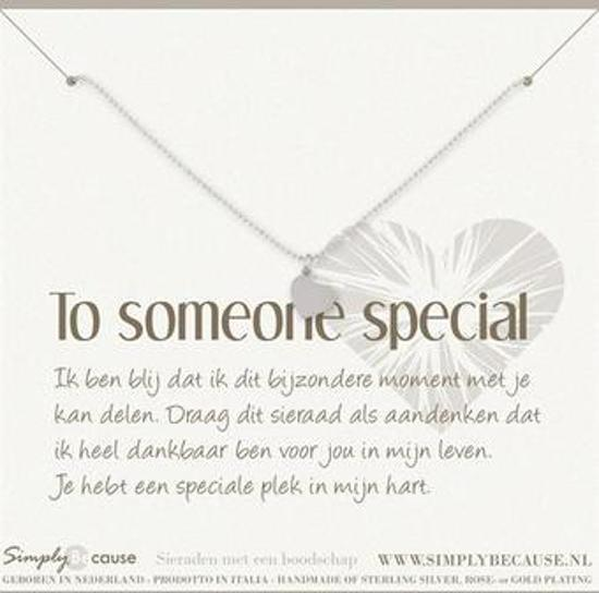 Simply Because To someone special! Armband (zilver, bedel hartje) 18-20 cm