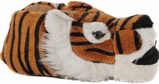 Dieren pantoffel tijger bruin 40-41