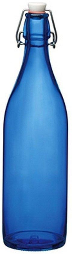 Blauwe giara fles met beugeldop