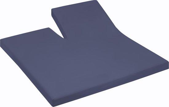 Damai - Hoeslaken split (tot 35 cm) - Katoen - 140 x 200 cm - Dark blue