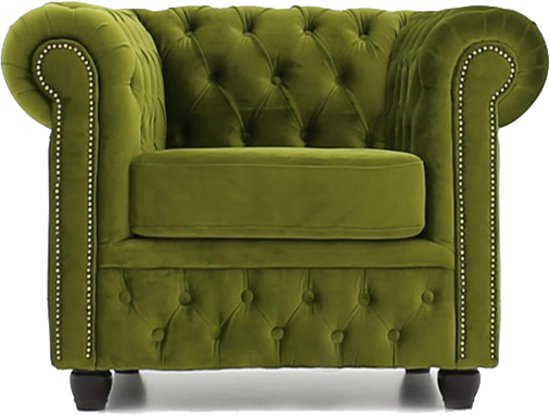 Fluwelen Stoel Groen : Bol.com the original chesterfield stof fluweel groen fauteuil
