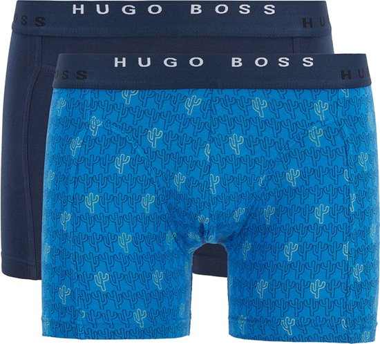 Hugo Boss - Heren 2-Pack Jersey Brief Boxershorts Blauw - L
