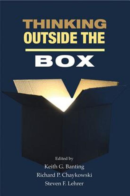 Bolcom Thinking Outside The Box Keith G Banting 9781553394297