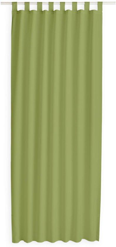 Kant en Klaar Gordijn Met Lus Bamboe Groen - 140 x 260cm