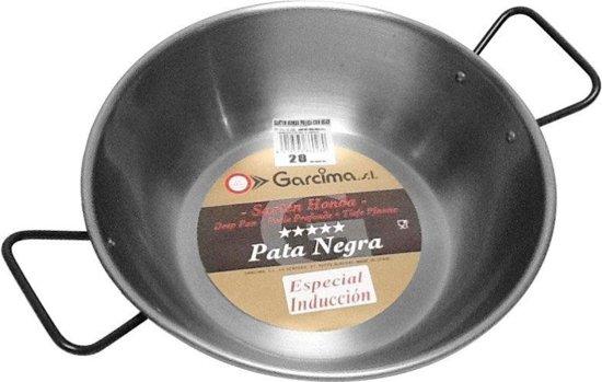 Lyonnaise pan hoog met twee grepen, plaatstaal, 36 cm - Garcima