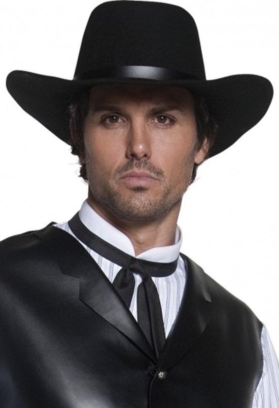 Authentieke zwarte cowboyhoed