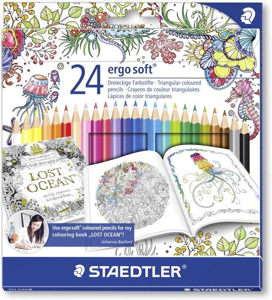 STAEDTLER Ergosoft kleurpotlood - set 24 st J. Basford