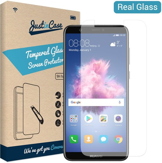 the latest b1360 002af Just in Case Tempered Glass Huawei P Smart Protector - Arc Edges