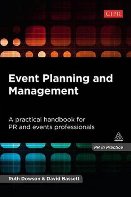 events planning and management