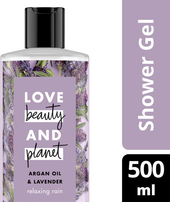 Love Beauty and Planet Douchegel Relaxing Rain - 500 ml - Argan Oil & Lavender