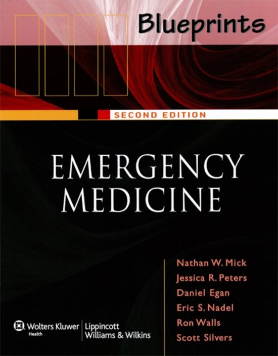 Boek cover Blueprints Emergency Medicine (Blueprints Series) van Nathan Mick (Paperback)