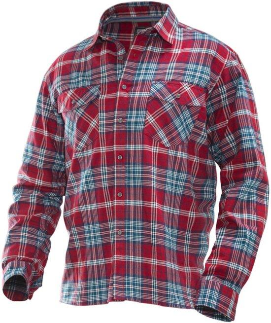 5138 Worker Shirt red/petrol xl
