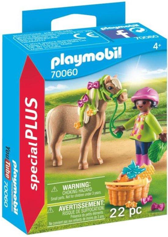 bespaar tot 80% stabiele kwaliteit behoorlijk goedkoop PLAYMOBIL Meisje met pony - 70060