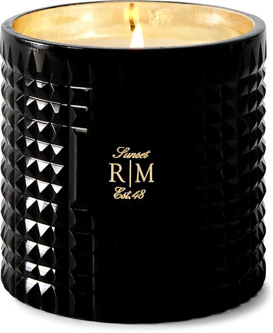 Riviera Maison Luxury Scented Candle Sunset - Geurkaars - Paraffine/Glas - Zwart