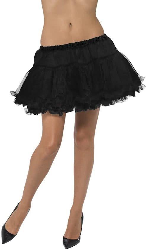 Zwarte Petticoat - kort model tule onderrok - 30 cm - maat S-M