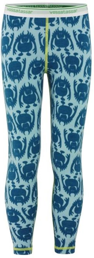 Monster legging merino wol - blauw