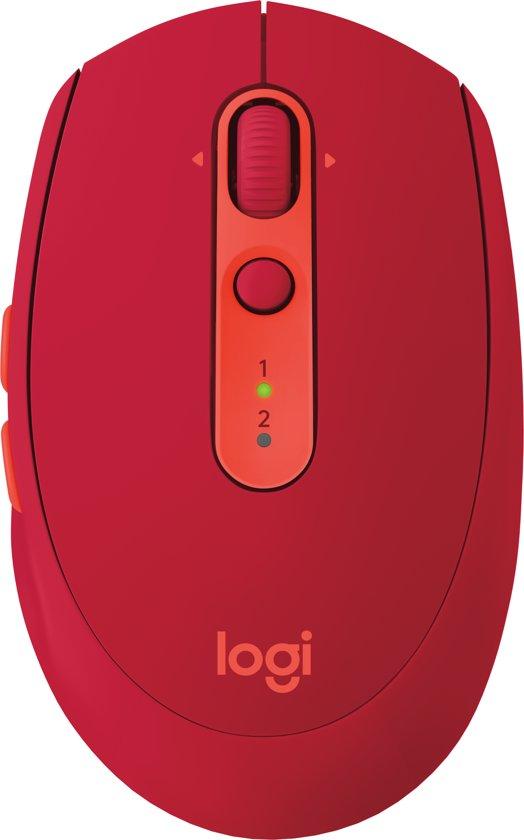 Logitech M590 Multi-Device - Silent Draadloze Muis - Rood
