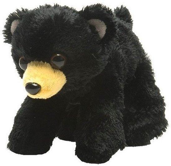 f1a397f020d5e8 Pluche zwarte beer knuffel 18 cm - Beren dieren knuffels - Speelgoed voor  kinderen
