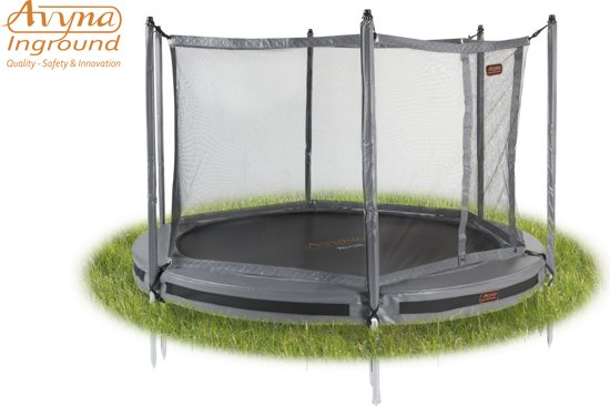 Avyna InGround trampoline PRO-LINE 3,05 (10 ft) Grijs + net + InGround Tool Set (combi)