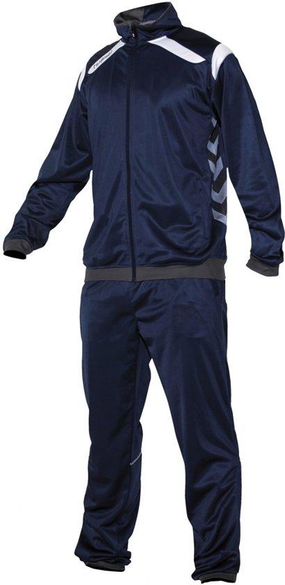 Hummel Team Polyester Suit - Trainingspak - Jongens - Maat 128 - Blauw donker