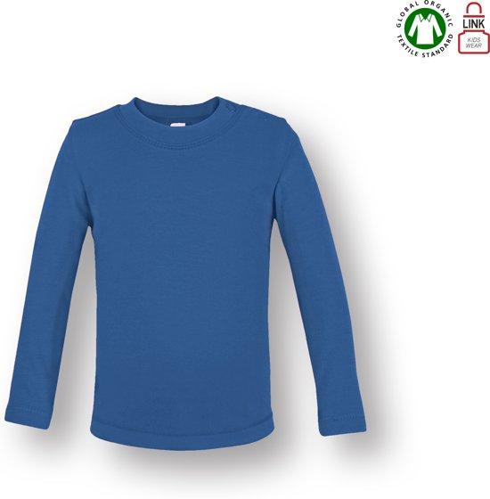 Link Kids Wear baby T-shirt met lange mouw - Deep Royal blauw - Maat 74/80