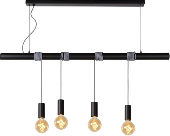 Lucide JAIME - Hanglamp - Zwart