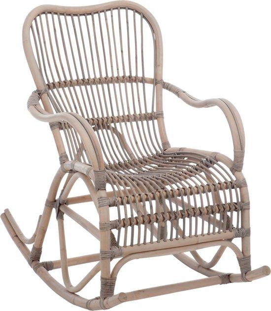 Kussen Voor Rotan Schommelstoel.Bol Com Schommelstoel Rotan Lisonne Grijs 93x110x66