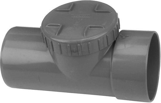 PVC Ontstoppingsstuk + schroefdeksel 110mm mof / spie