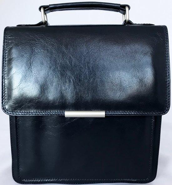 Leather Design Schoudertas Dames leer Premium kwaliteit Donkerblauw